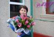 Flori pentru prima învățătoare, Angela Pîslari, cu prilejul frumosului jubileu!